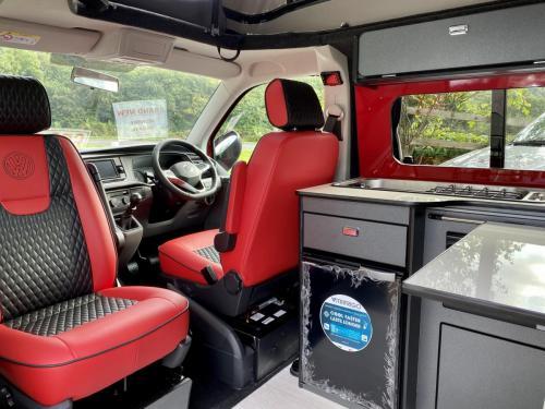 Volkswagen Transporter T6.1 SWB T28 4 Berth Pop Top Campervan NG21 AKO (9)